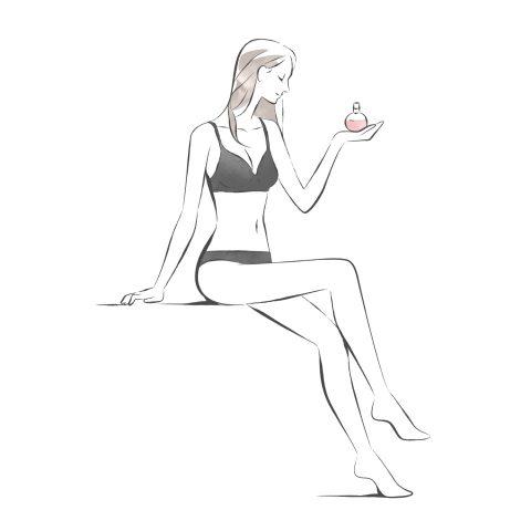 【@cosme美女子ナビ記事用】香水イラスト 1