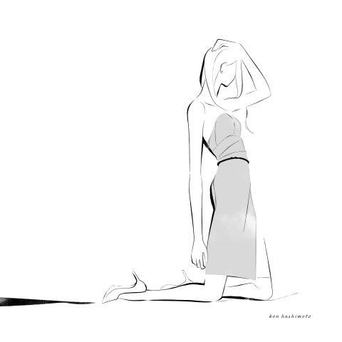 ドレスの女性 ファッションイラスト1