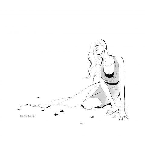 ドレスの女性 ファッションイラスト4